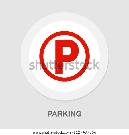 vector parking sign symbol. car parking traffic illustration isolated. vehicle transportation icon