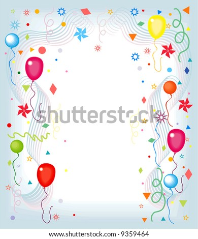 clip art balloons and confetti. Balloons and Confetti