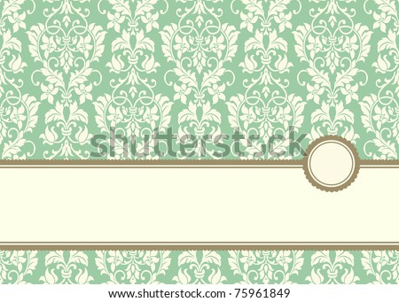 Vector Pastel Banner Frame and Background. Easy to edit. Perfect for invitations or announcements.