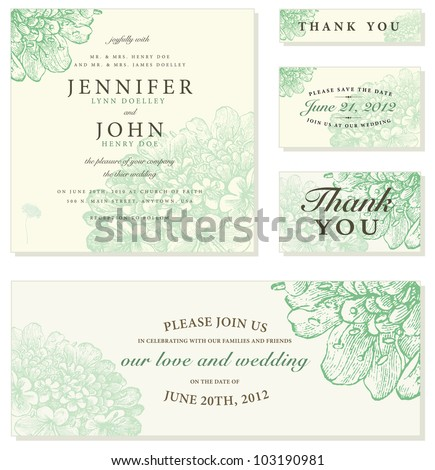 Vector Pastel Floral Frame Set. Easy to edit. Perfect for invitations or announcements.