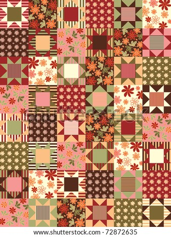 vector patchwork seamless pattern
