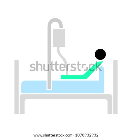 vector patient treatment - hospital icon, health therapy symbol - medical icon