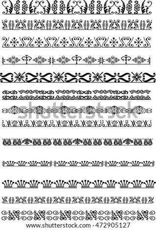 vector pattern design set #472905127