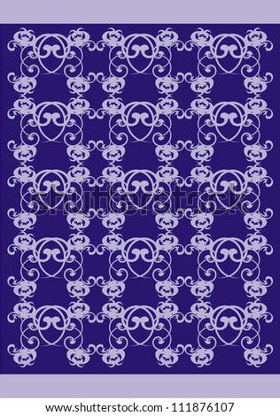 Vector Pattern Flowers Purple