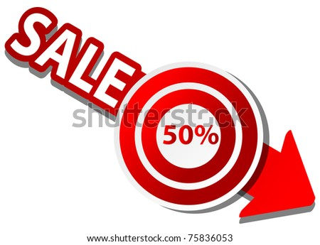 Vector pattern for discount with dart