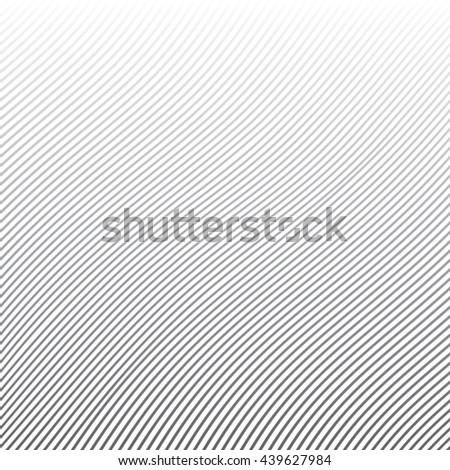 Vector pattern. Geometric wavy lines grey background