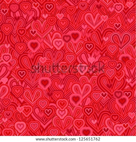 Vector pattern - hearts seamless (love - decorative background)