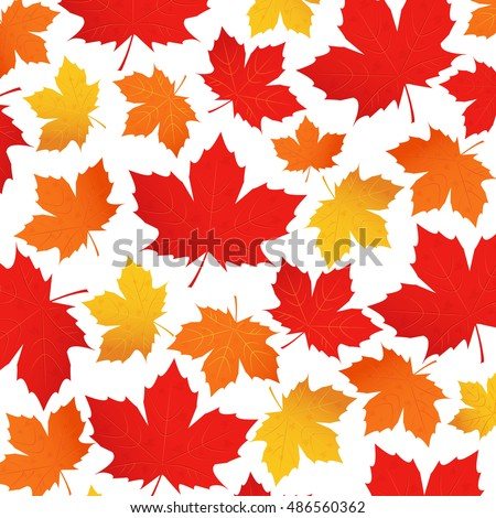 vector pattern of autumn leaves