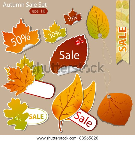 Vector pattern of discount. Autumn
