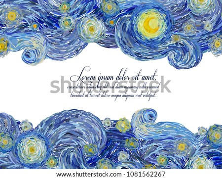 vector pattern of starry night