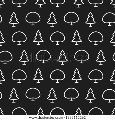 vector pattern of tree white line style for natural product store, garden, nature cosmetics, ecology company, naturally firm, organic shop, alternative medicine, green unity, farming. 10 eps #1335112262