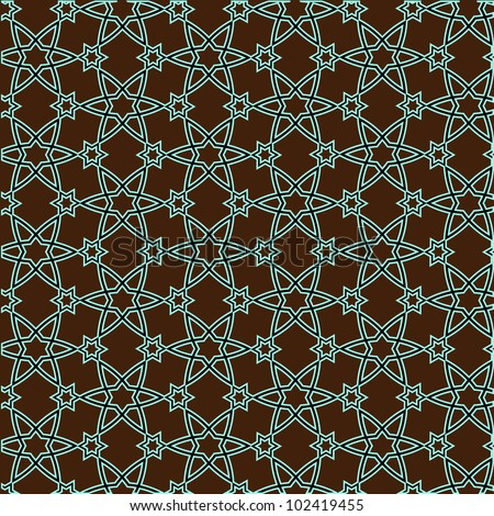 Vector pattern on islamic motif