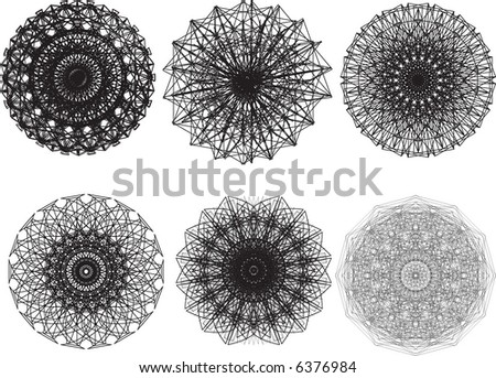 vector pattern rosette guilloche for document