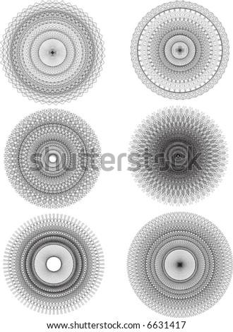 vector pattern rosette guilloche for document