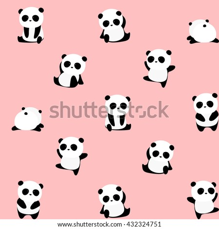 vector pattern  seamless panda