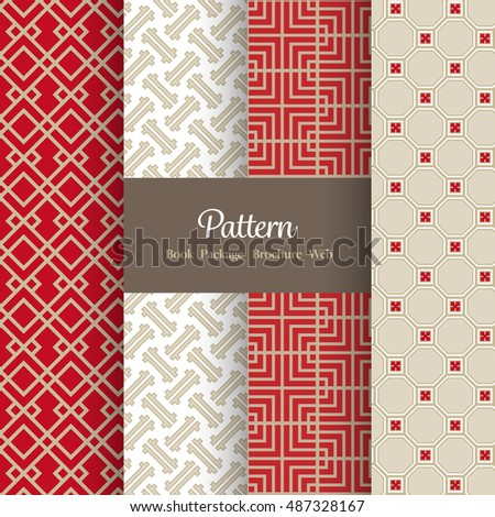 vector pattern set for package