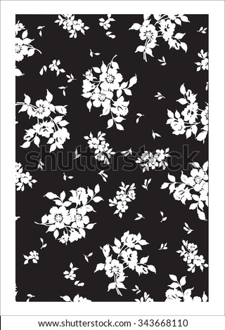 Vector pattern Silhouette
