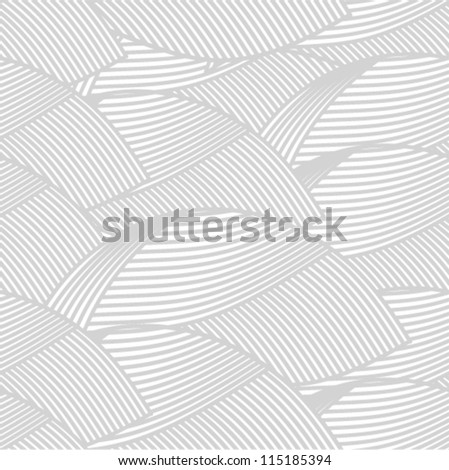 Vector pattern - silver leaf seamless