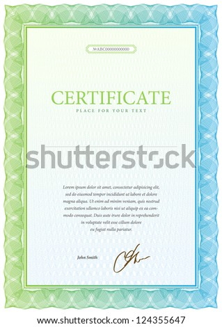 Vector pattern that is used in currency and certificate