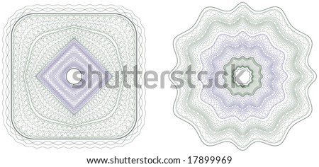 Vector pattern that is used in currency and diplomas