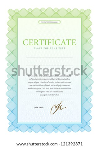 Vector pattern that is used in currency and diplomas. Vector illustration