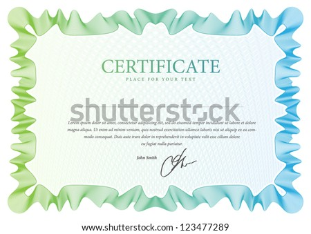 Vector pattern that is used in currency, diplomas and  certificate