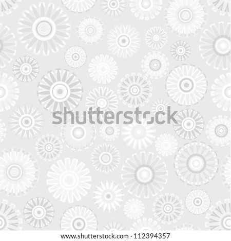 Vector pattern - vintage flower seamless (silver floral background)