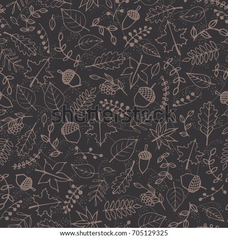 vector pattern with autumn