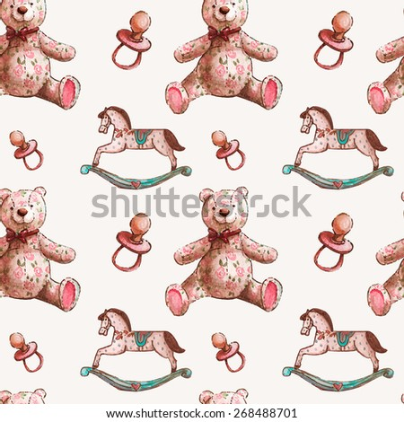 vector pattern with baby