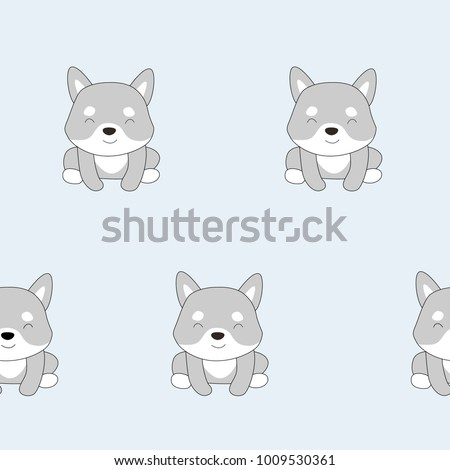 vector pattern with cute dog