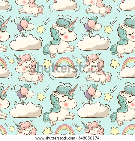 vector pattern with cute