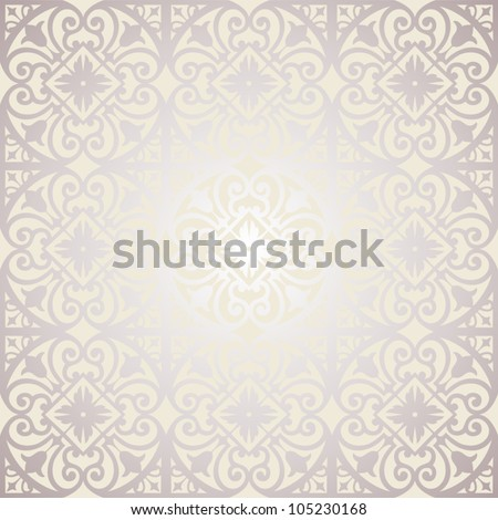 Vector pattern with floral and geometrical ornament. Decorative seamless background.