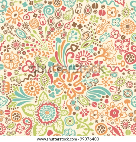 vector pattern with floral