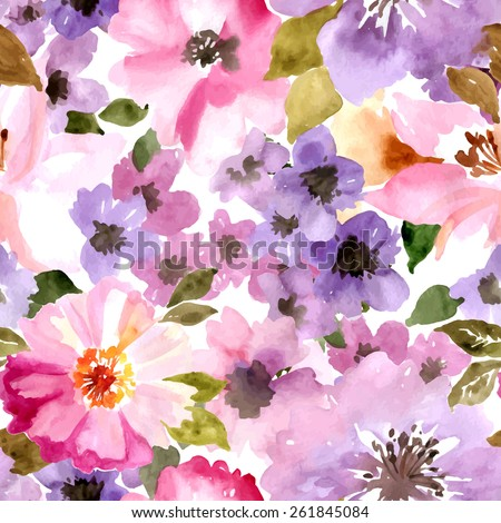vector pattern with flowers and