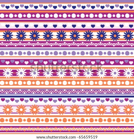 vector pattern with flowers, seamless