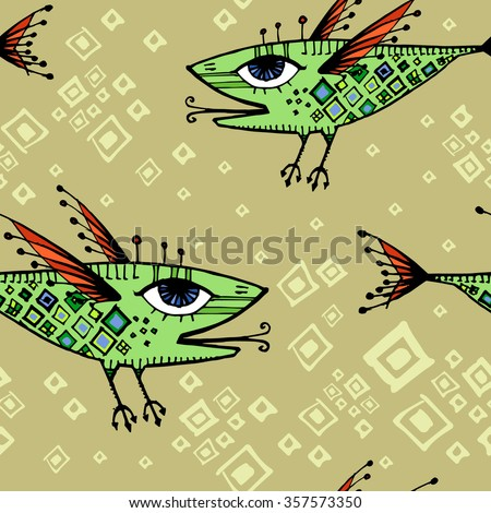 vector pattern with flying
