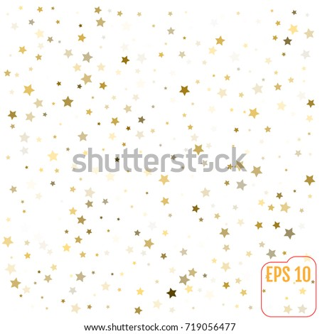 Vector pattern with gold stars