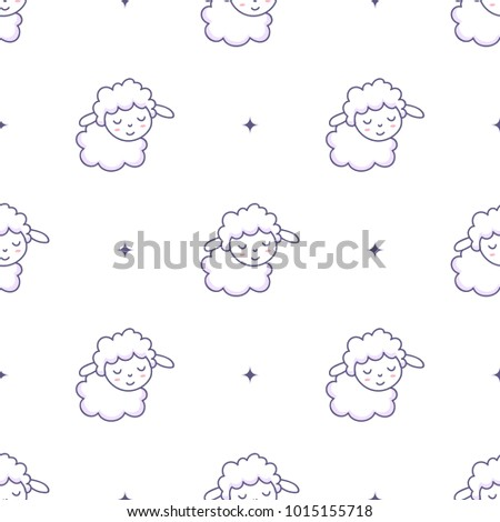 vector pattern with lambs and