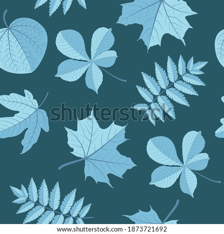 vector pattern with leaves