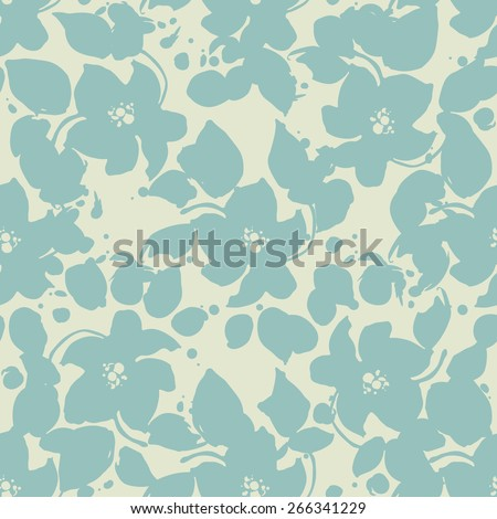 vector pattern with peonies