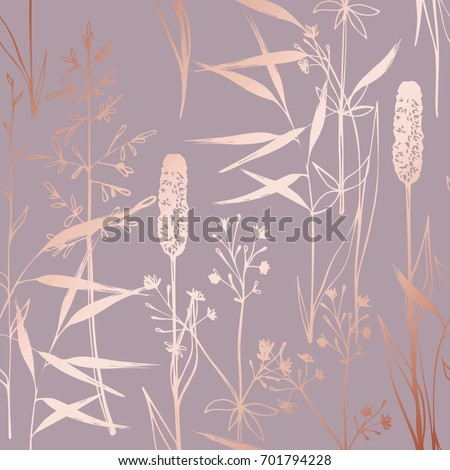 vector pattern with wildflowers