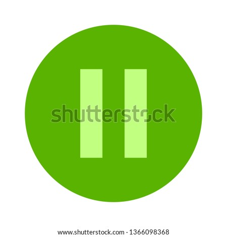 vector pause button icon - media symbol
