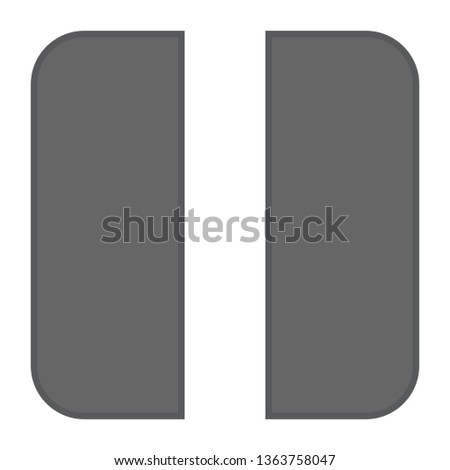 vector pause button icon - media symbol - pause music or video