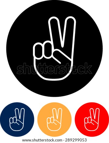 vector peace sign   hand