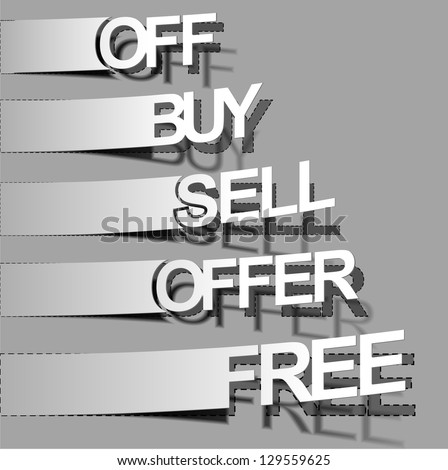 vector peel off, free, buy, sell,offer, labels design