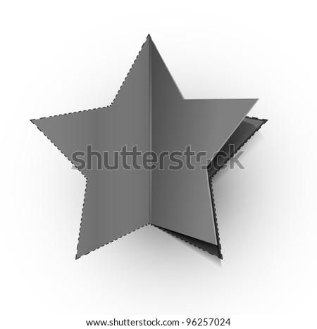 vector peel off star, eps 10 design.