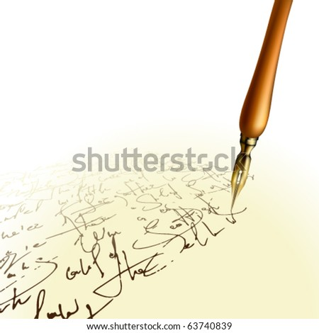 Vector Pen and handwritten text