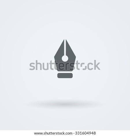 Vector pen icon. Logo. Pictogram. Button.