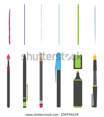 Vector Pen pencil marker brush