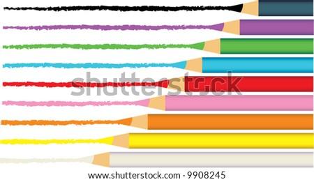 Pencil Crayon Drawings Vector Pencil Crayons Drawing